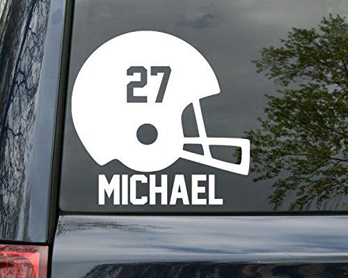Minglewood Trading Football Helmet Vinyl Decal Sticker with Custom Name & Numbers 6