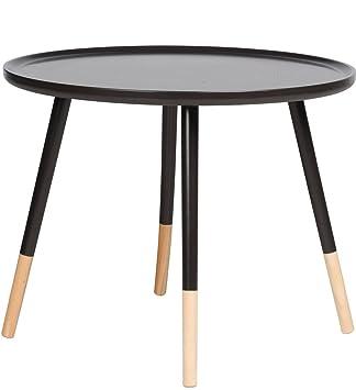 Retro Design Tisch Rund Holz Beistelltisch Couchtisch Sofatisch ø 60