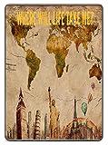 World Travel Map Atlas Quote Printed Design Kindle (8th Gen) VINYL STICKER DECAL SKIN