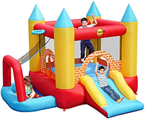 Happy Hop HappyHop 9114. Castillo Hinchable 4 en 1.: Amazon.es ...