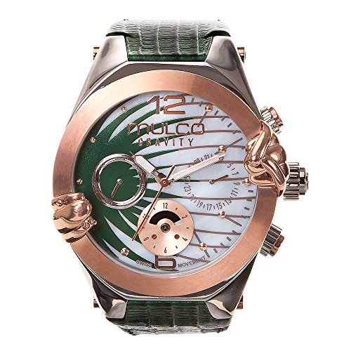 Mulco MW5-3581-473 Gravity Saturn Collection Green Leather Band