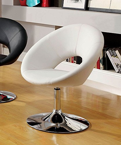 247SHOPATHOME IDF-AC6915WH Living-Room-Chairs, White Review