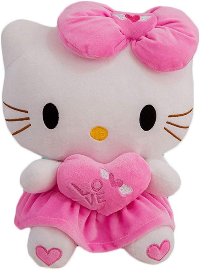 LCCYJ Hello Kitty Soft Plush Pillow Animal Stuffed Toy Home Decor Cuddly Soft Toys Valentines Birthday Gift (30cm-60cm),01,60cm