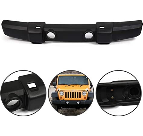 Speedmotor Textured Front Bumper Cover for Jeep Wrangler 2007-2016 w//Fog lamp Holes Replacement CH1000900