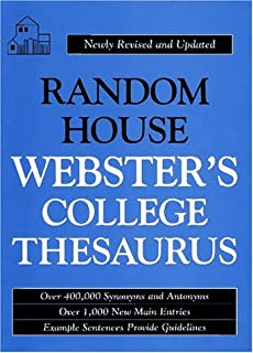 Random House Webster's College Thesaurus: Random House