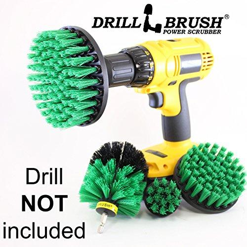 Shower Kit Brush (Bathroom Cleaning Scrub Brush and Nylon Power Brush Tile and Grout)