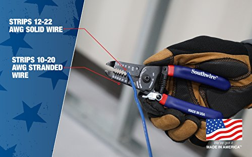 Southwire Tools & Equipment S1020SOL-US 10-20 AWG SOL & 12-22 AWG STR Compact Handles Wire Stripper/Cutter by Southwire (Image #2)