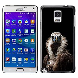 FlareStar Colour Printing Condor Bird Black Vulture Nature Feather cáscara Funda Case Caso de plástico para Samsung Galaxy Note 4 IV / SM-N910F / SM-N910K / SM-N910C / SM-N910W8 / SM-N910U / SM-N910G