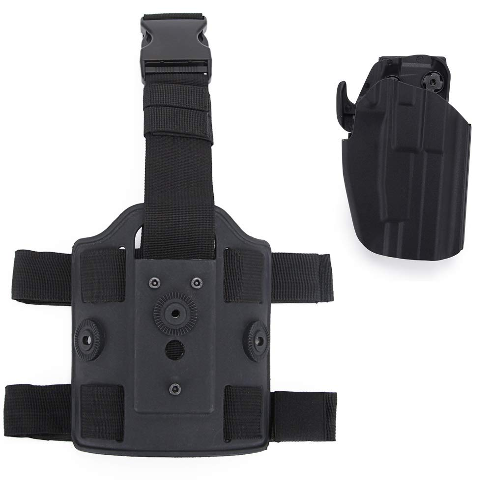 Amazon com : Huenco Tactical Glock Leg Holster Belt Drop