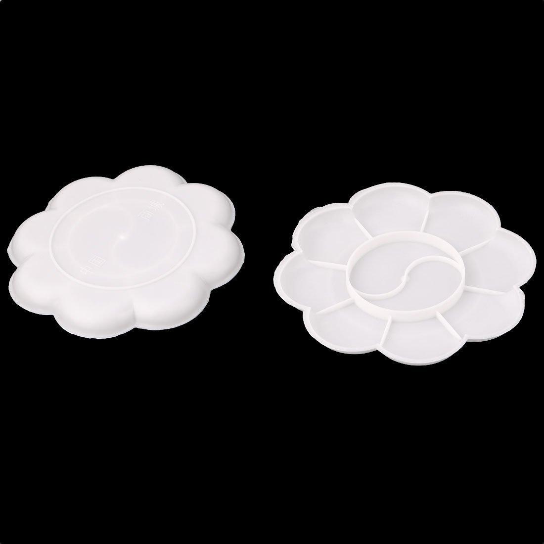 Amazon.com: DealMux Artistas Plásticos 10 Bem pintura Paleta bandejas Placa 5 Pcs Branco: Home & Kitchen