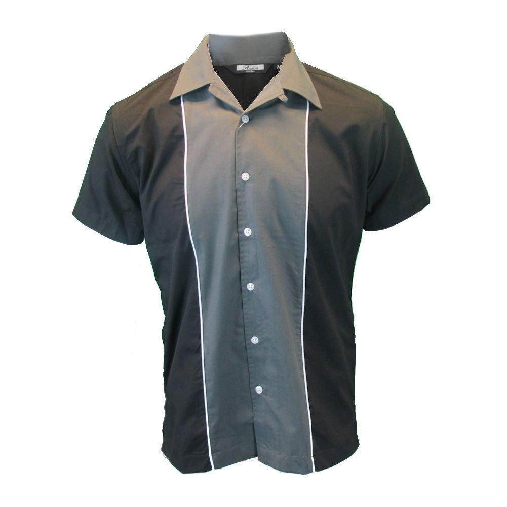 Vintage Mens Clothing | Retro Clothing for Men Relco Mens Rockabilly Retro Bowling Shirt $39.95 AT vintagedancer.com