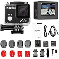 Dazzne P3 Wifi Waterproof Action Sports Camera 2.0 Inch TFT Screen Support HD 1080P 60fps -16MP F/2.8 Aperture 170 Degree Wide Angle Lens Ambarella A7LS Processor with Accessories