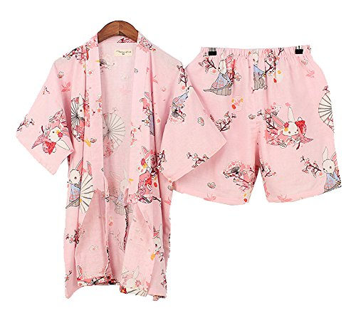 DRAGON SONIC Japanese Style Kimono Pajamas Summer Cotton Steaming Clothes,M5 by DRAGON SONIC