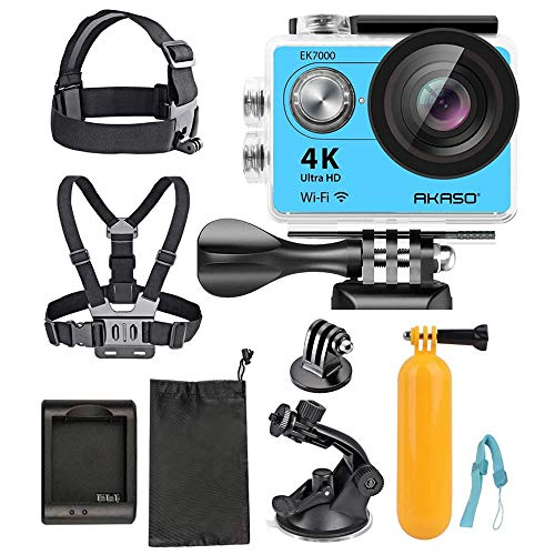 AKASO Ultra HD Waterproof Sports Action Camera (EK7000) with Sports Camera Starter Kit