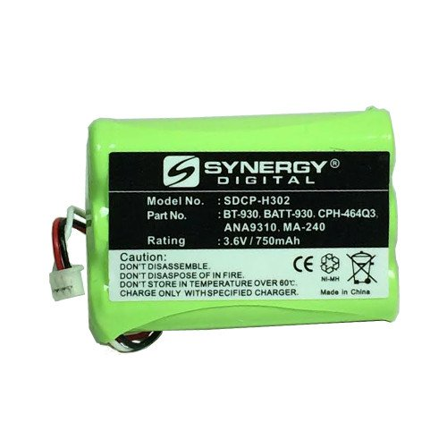 Uniden BT930 Cordless Phone Battery Ni-MH, 3.6 Volt, 750 mAh - Ultra Hi-Capacity - Replacement for Uniden BT-930 Rechargeable Battery