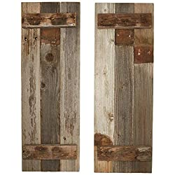 Barn Wood Rustic Decorative Shutter Set of 2