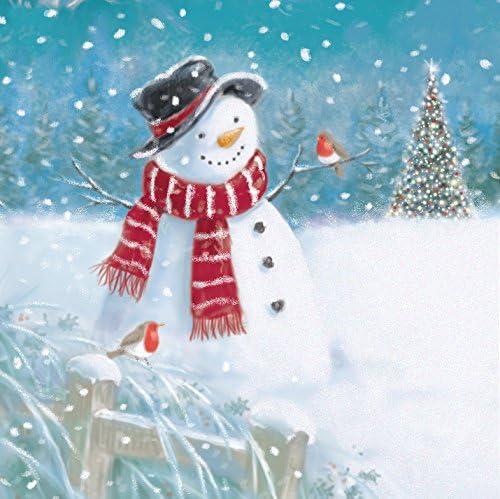 Pack de 5 tarjetas de Navidad muñeco de nieve Navidad Ling diseño tarjeta de Navidad paquetes: Amazon.es: Oficina y papelería