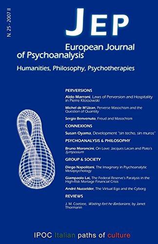 JEP European Journal of Psychoanalysis 25 Sergio Benvenuto