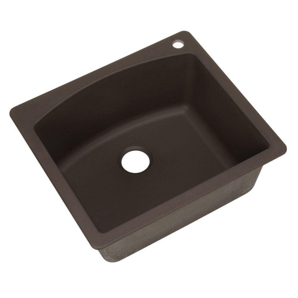 Blanco 440208 Diamond Single-Basin Drop-In or Undermount Granite Kitchen Sink, Cafe Brown