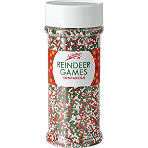 Festival Reindeer Games Holiday Nonpareils 5.1oz Jar