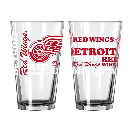 Detroit Red Wings Official NHL 16 fl. oz. Spirit Pint Glass