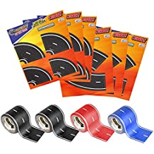 PlayTape Master Road Builder Combo Set - Car Tape Great for Kids, Sticker Roll for Cars and Train Sets, Stick to Floors and Walls, Quick Cleanup, Children Toys Birthday Gift