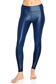 8c28691fa98cf Koral Activewear Lustrous High Rise Legging Navy Womens Active Sparkle Yoga  Leggings