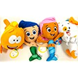 Bubble Guppies Gil, Molly, Mr Grouper and Bubble Puppy 4 Plush Doll Set 12""