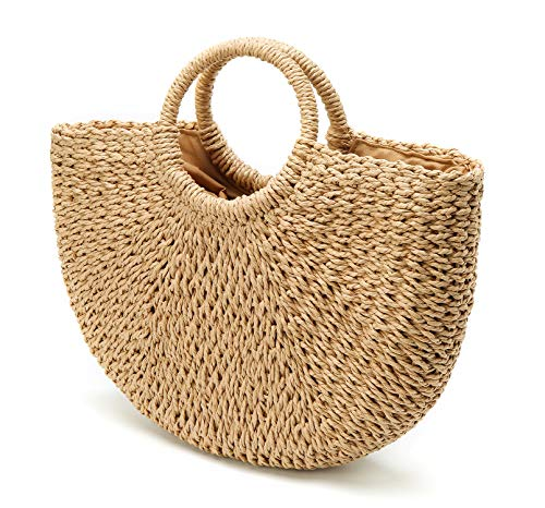 Hand-Woven Handbag with Pom-Poms
