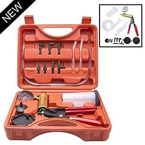 ILOVA HandHeld Vacuum Pump Set Tester for Automotive with Adapters Brake Bleeder Test Kit