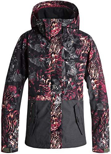 Roxy Snow Junior's Jetty Block Snow Jacket, Four Leaf Clover_ZEBRATREE, M (Womens Snowboard Jacket Large)