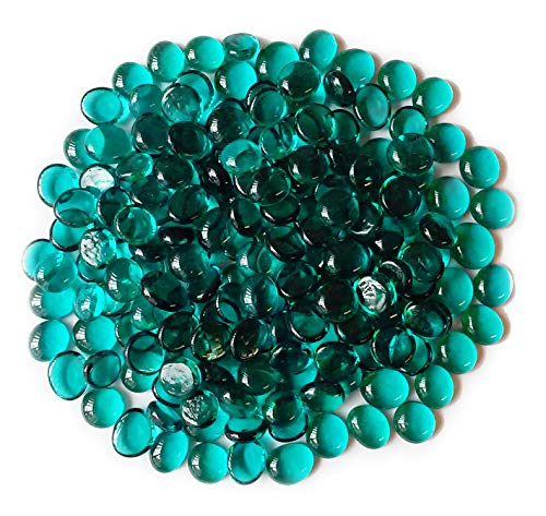 Miracolors - 5 Lb - Teal Glass Gems - Vase Fillers (14-17mm, Approx. 5/8