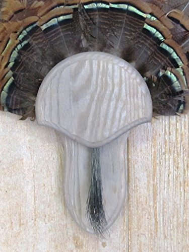 (The Taxidermists Woodshop Weathered Wood Turkey Mounting Kit with Beard Plate -02)