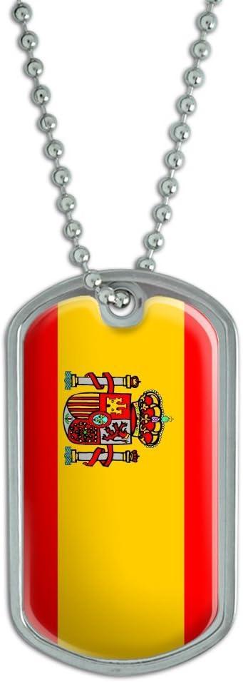 Graphics and More Bandera de España – Militar Etiqueta de Perro Llavero de Equipaje: Amazon.es: Coche y moto