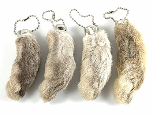 Dangerous Threads Rabbit Rabbits Foot Keychain White/Natural 4 Pcs]()