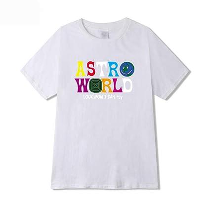 Simple Camiseta Jjzhy Astroworld Manga Popular Travis Scott De Corta 345RjLAq