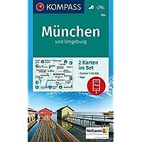 München und Umgebung: 2 Wanderkarten 1:50000 im Set inklusive Karte zur offline Verwendung in der KOMPASS-App. Fahrradfahren. (KOMPASS-Wanderkarten, Band 184)