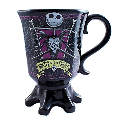 Silver Buffalo NB6895 Disney Nightmare Before Christmas Misfit Love Goblet 3D Sculpted Ceramic Mug, 20 oz, Multicolor