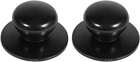 4 pi/èces poign/ées de casserolles de rechanges,bouton de couvercle de casserole en verre,boutons pour couvercle de casseroles,poign/ée de couvercle poele en acier inoxydable 2 styles