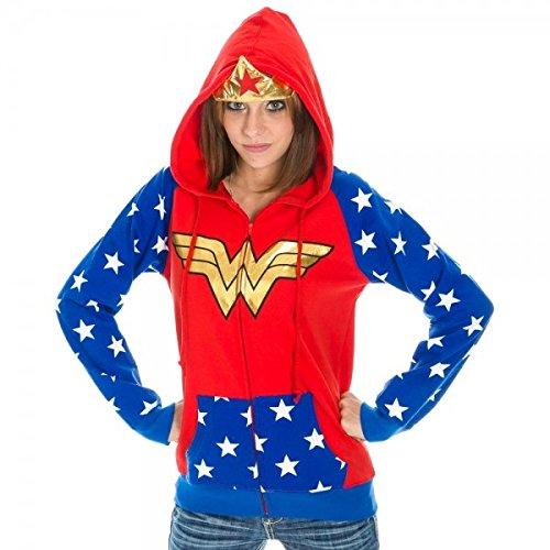 UPC 887439435043, DC Comics Wonder Woman Foil Logo Crown Juniors Hoodie S