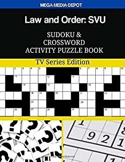 Law and Order: SVU Trivia Crossword Word Search Activity Puzzle Book