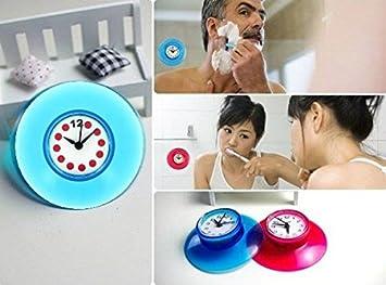 Amazon.de: Wasserfeste Badezimmer-Uhr mit Saugnapf (Farben sortiert)