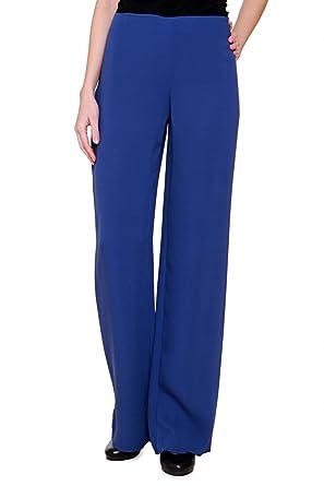 2c387a2ce0 Luisa Spagnoli Pants ASMARA, Color: Blue, Size: 40: Amazon.co.uk: Clothing