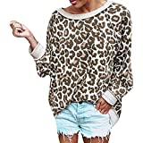 Clearance Sale ! Women Sweatshirt,BeautyVan Women Casual Leopard Print Long Sleeve Pullover Shirt Top Blouse