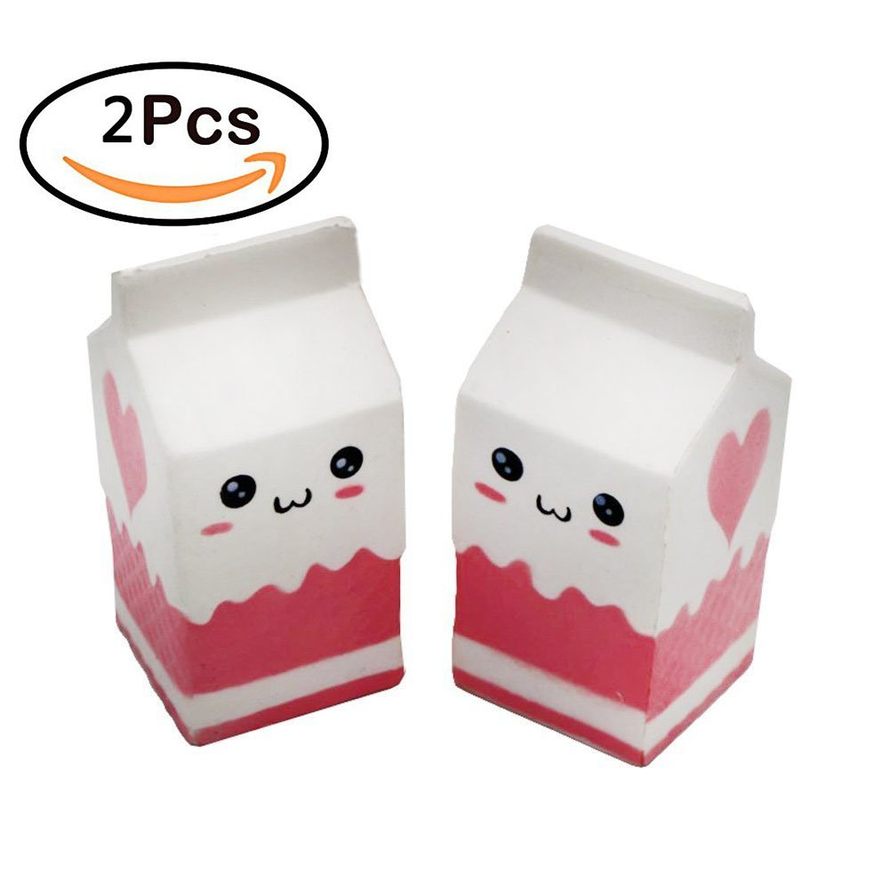 Squishy Slow Rising Milk Box, TopRay Kawaii Milk Bottle Squishies Toy Cream Scented Toy