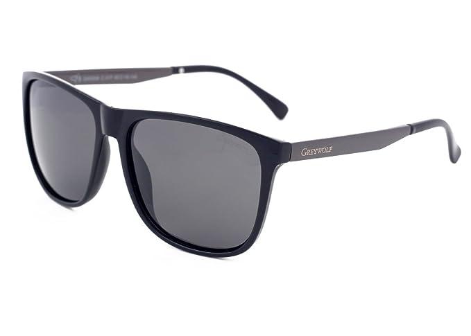 Gris Loup Cool Classique Wayfarer Style Hommes Femmes Polarisées Lunettes  de Soleil pour Conduire Pêche Sport e08e60bf4fbe
