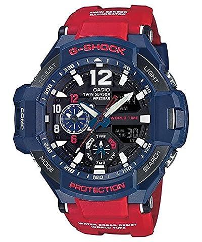 G-Shock GA-1100-2A Gravitymaster Stylish Watch - Blue Dial / One Size (Blue G Shock Men)