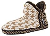 MUK LUKS Women's Amira Short Slipper Bootie (M / 7-8 B(M) US, Camel)