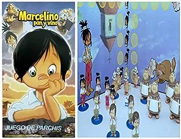 ML Juego Tablero parchis de Mesa didáctico Serie Marcelino Pan y Vino, 16 fichas Figuras realistas para niños y niñas: Amazon.es: Juguetes y juegos