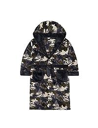 4Kidz Boys Dinosaur Camo Fleece Dressing Gown